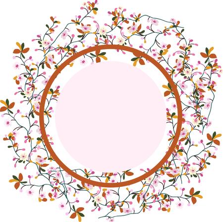 a wreath of cherry