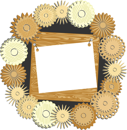 frame of wooden patterns