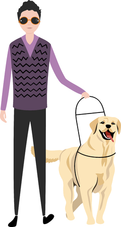 the dog guide and the blind man