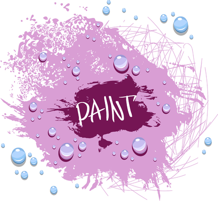Blot the paint with drops Illustration