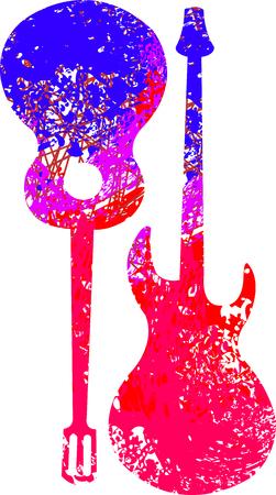 Guitarra de colores