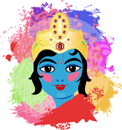 radha: Krishna illustration. Illustration