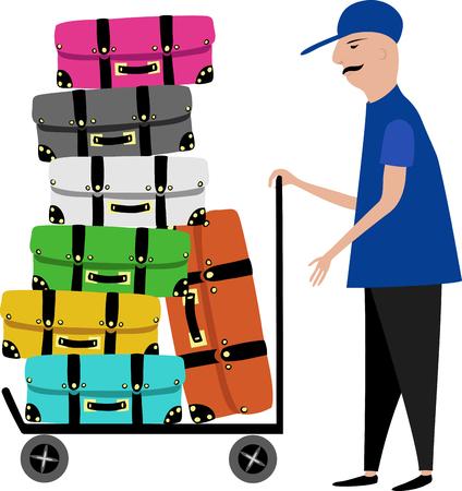 een portier voor bagage