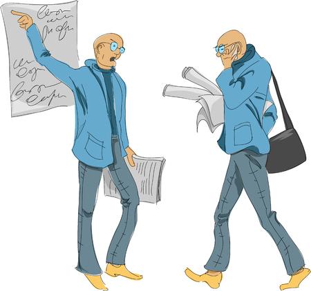 Office worker sketch.