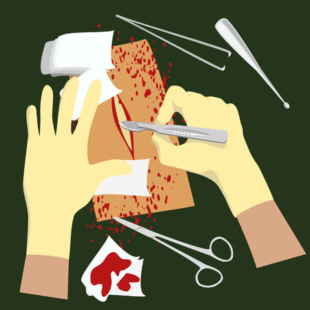 Surgical icon. Illustration