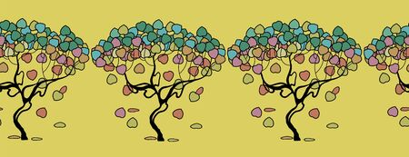 Autumn tress illustration.