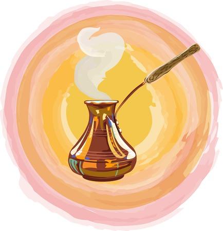 Turkse koffie vectorillustratie.