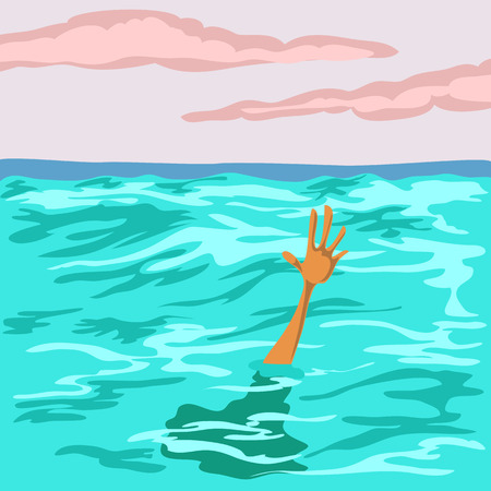 the man drowns in the sea