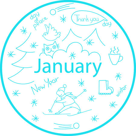 The month of January holiday dates