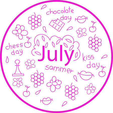 the month of July. holiday dates