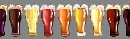 Beers. seamless pattern Illustration