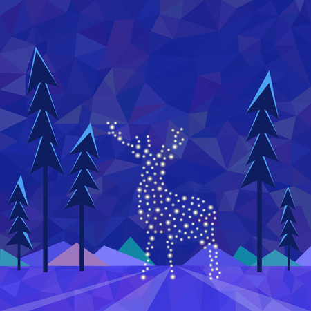 Christmas deer at the North Pole