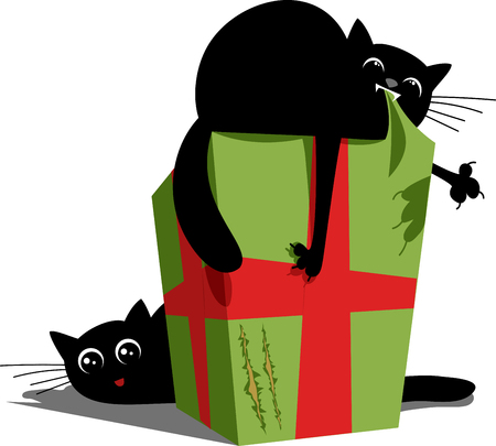 Cats and gifts illustration Illustration