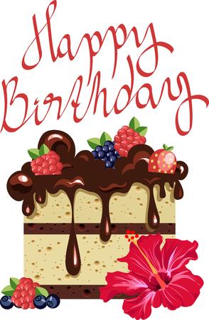 Bolo de aniversário de chocolate