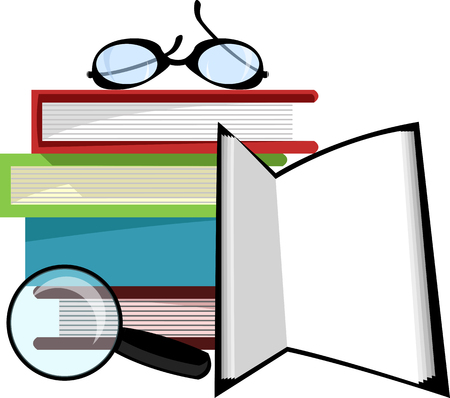 Pile of books 일러스트