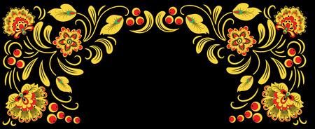 Russian ornament illustration.