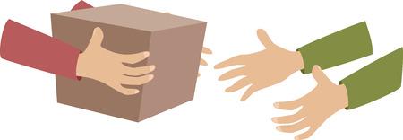 delivery of a parcel Illustration