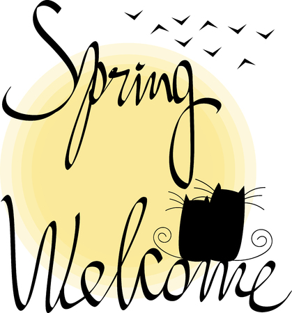 Inscription spring welcome
