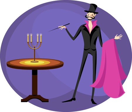 A magician in the circus Illustration