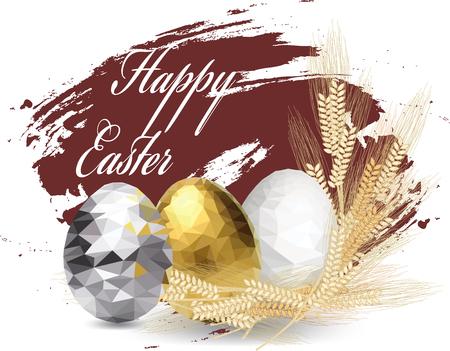 polygonal eggs. Easter illustration