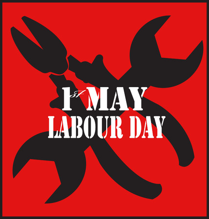 1st of May. symbol of the day of labor