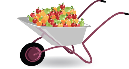 hand cart with fruit