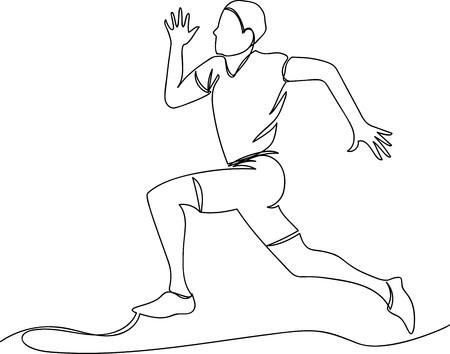 Athlete runs icon