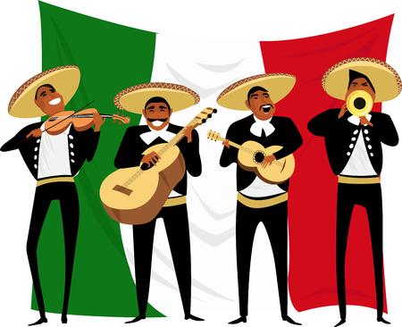Mexicaanse muzikanten. vector illustratie