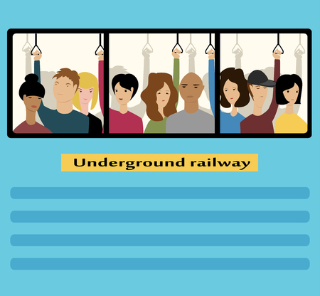 People in the subway. vector illustration