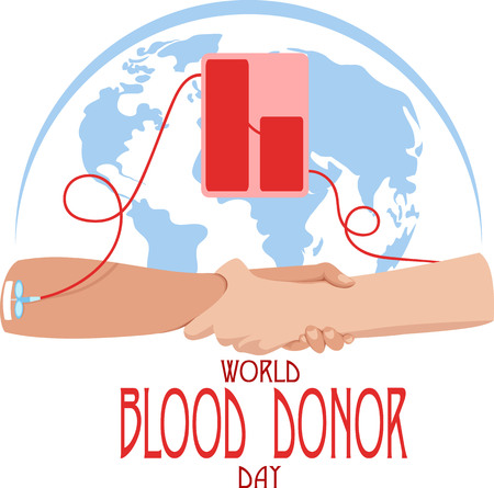 world blood donor day poster template  vector illustration  イラスト・ベクター素材