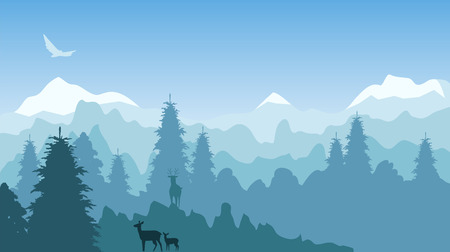 mountainous area. landscape Illustration
