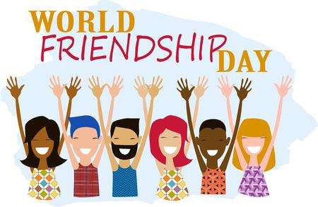 world friendship day  illustration Foto de archivo - 105994491