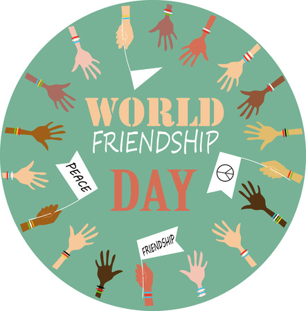 world friendship day  illustration Фото со стока - 105994494