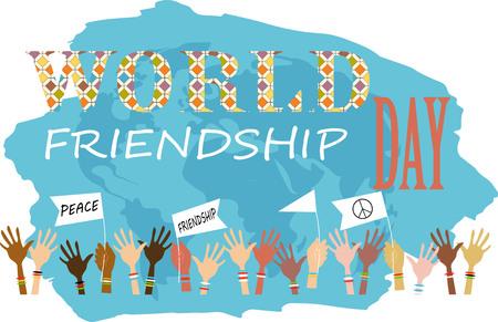 międzynarodowy dzień przyjaźni Ilustracje wektorowe