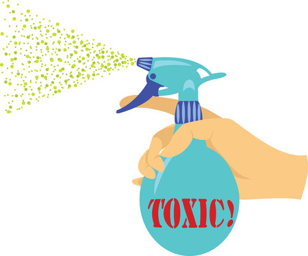 Sprayer with toxic liquid Illustration