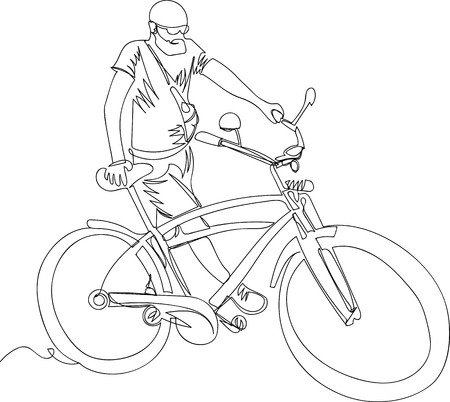 the man with the bike cruiser. one line