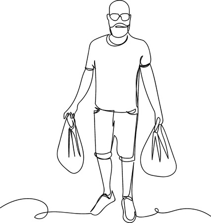 man carrying bags