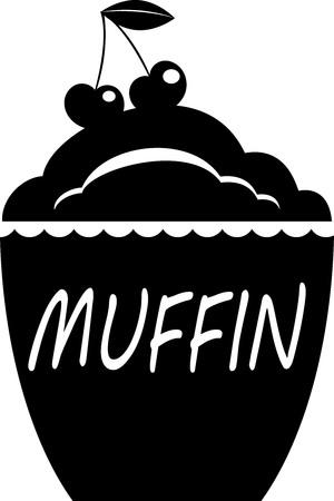 muffin. logo silhouette