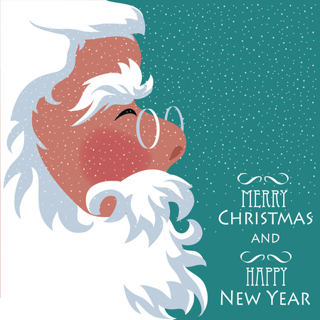 santa claus. a banner with the face of Santa  イラスト・ベクター素材