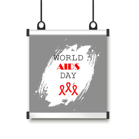 world AIDS day. Vector illustration on banner