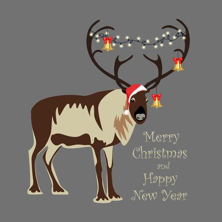 Christmas reindeer. Christmas decorations on the horns