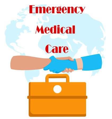 emergency medical care. the medicine chest and hands