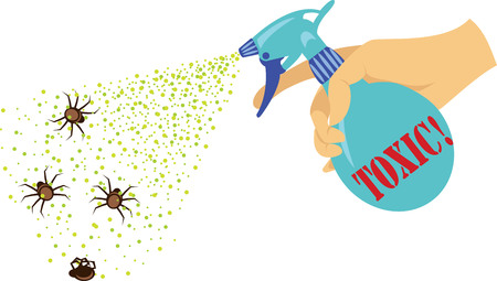 poisonous spray from insects. repellent Ilustracja