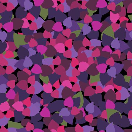 purple leaves. Basil leaves. seamless pattern