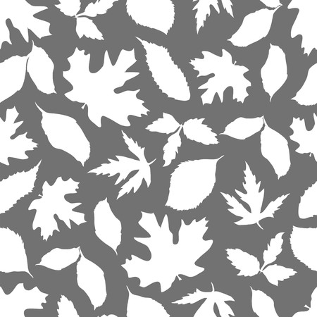 leaves of trees of the middle strip. silhouette of leaves. seamless pattern