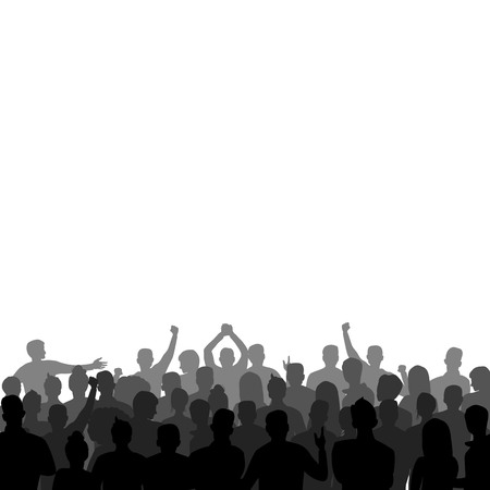 silhouette of a group of people. vector illustration