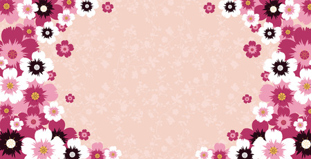flower frame. vector template for a greeting. greeting card Çizim