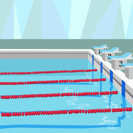 swimming sports pool. vector illustration Çizim