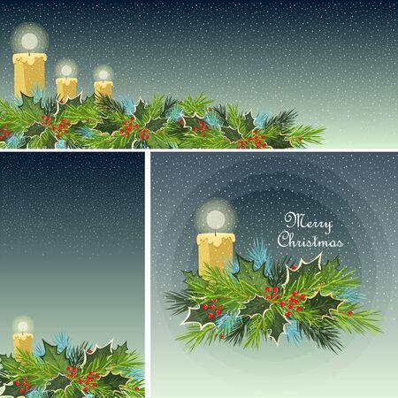 Christmas poster. set of Christmas greetings. posters and postcards