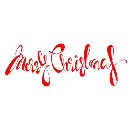 merry Christmas inscription Foto de archivo - 135023260
